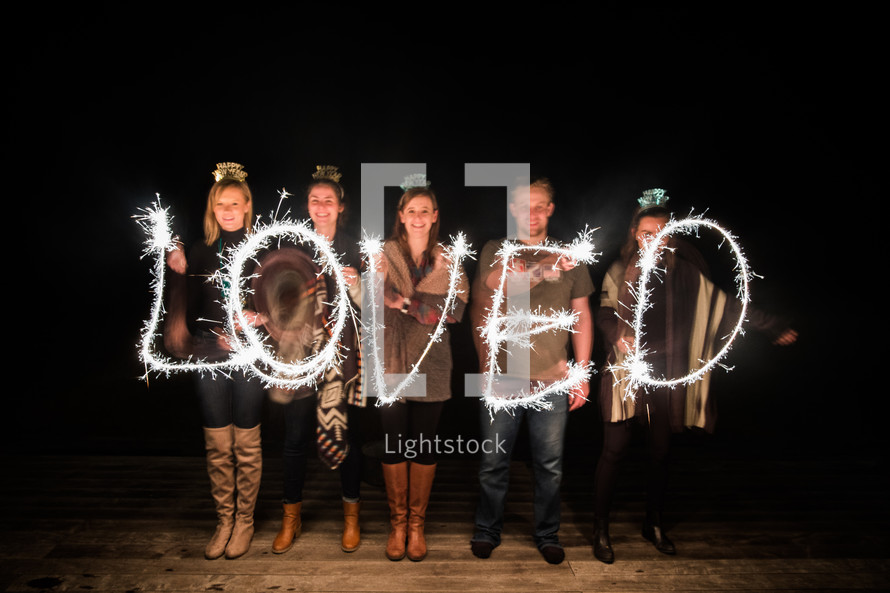 LOVED with sparklers