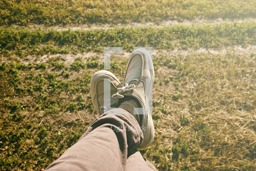 relaxing feet
