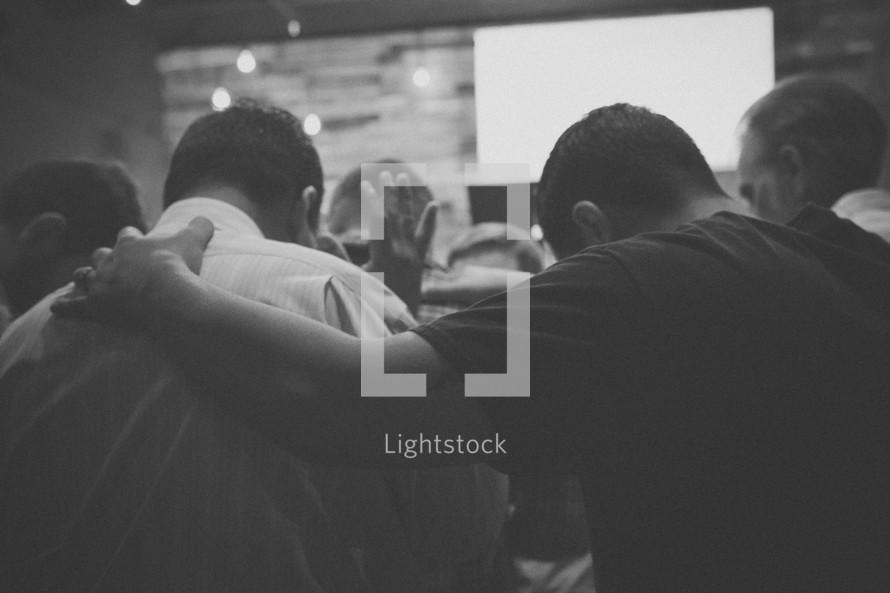 prayer at a worship service