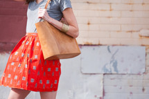 woman with her purse