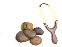 sling shot and stones
