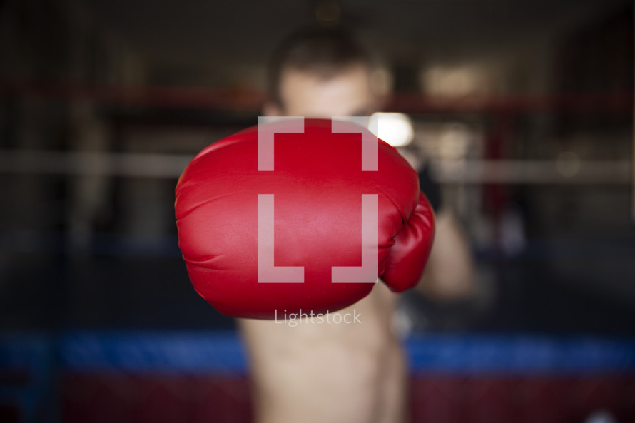 a boxer showing his fist