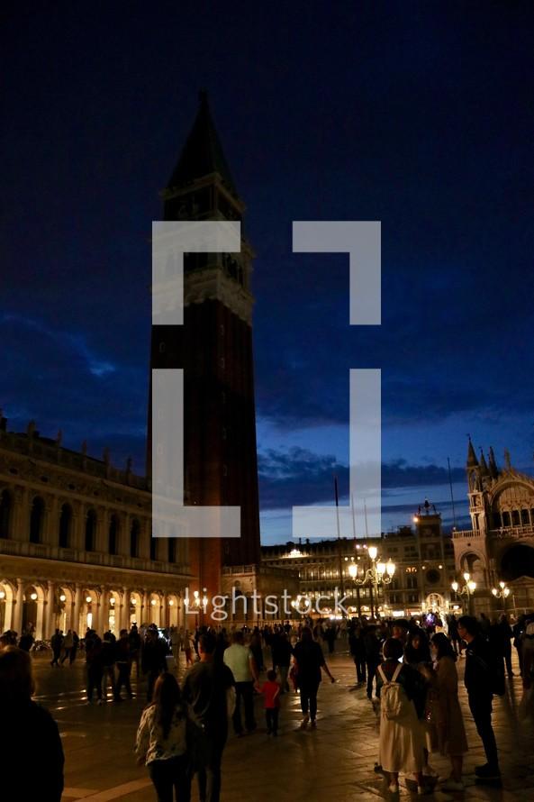 St. Mark's Square, Venice at night