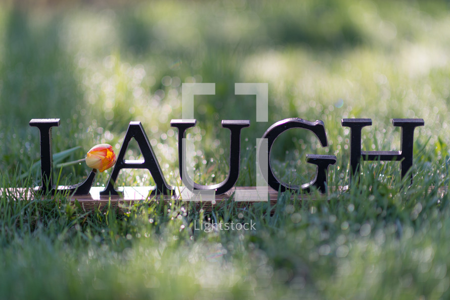 word laugh in grass