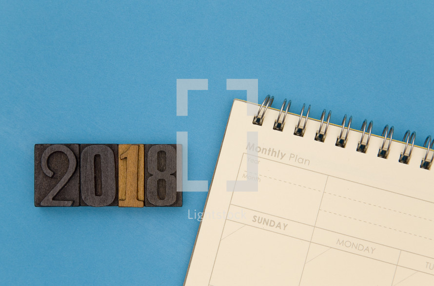 year 2018 and planner