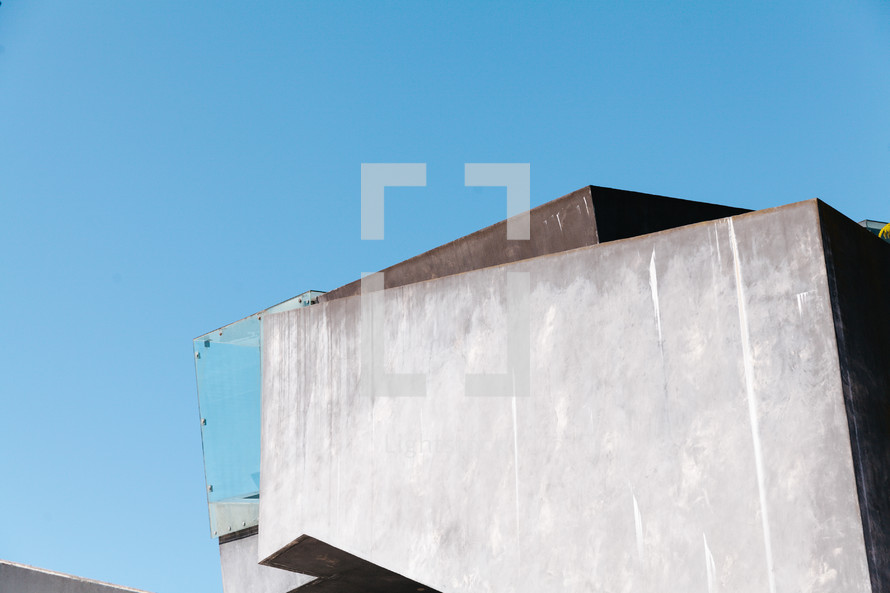 glass wall on a balcony