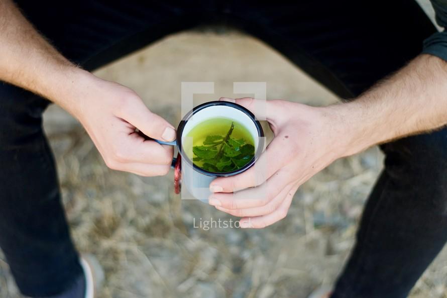 mug of mint tea