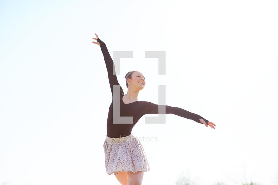 a ballerina outdoors