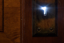 light from a keyhole
