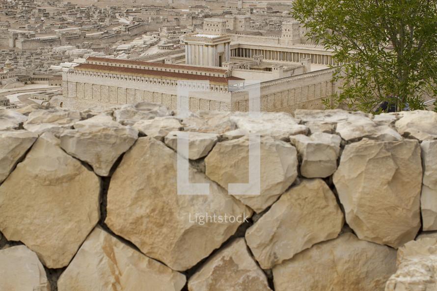 temple walls in Jerusalem