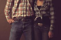 Couple in western wear.