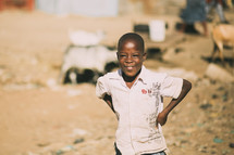 boy child in African shanty town