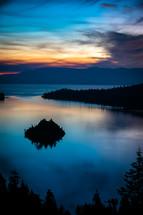 sunset along a shoreline