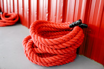 rope for rope slams in a gym