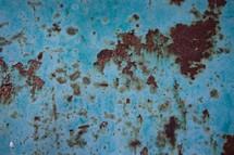 rusty blue metal background