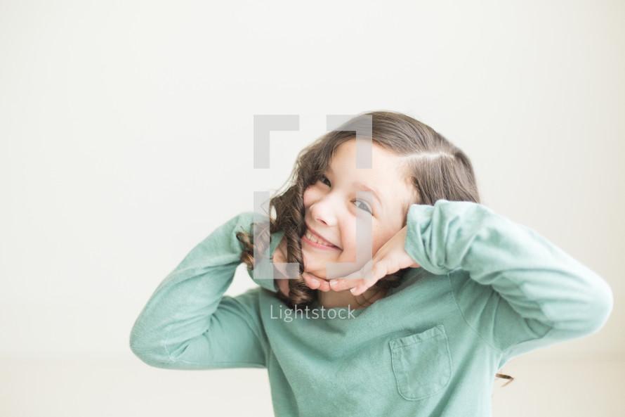 posing child