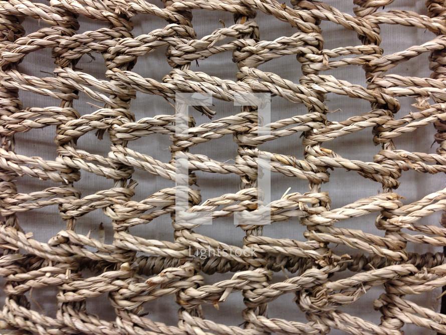 rope basket weave texture