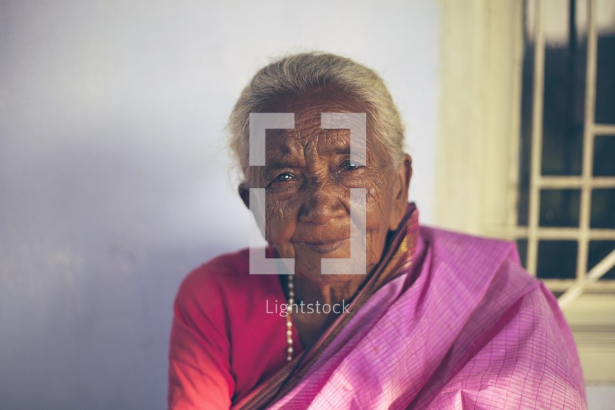 face of an elderly woman in Bangladesh