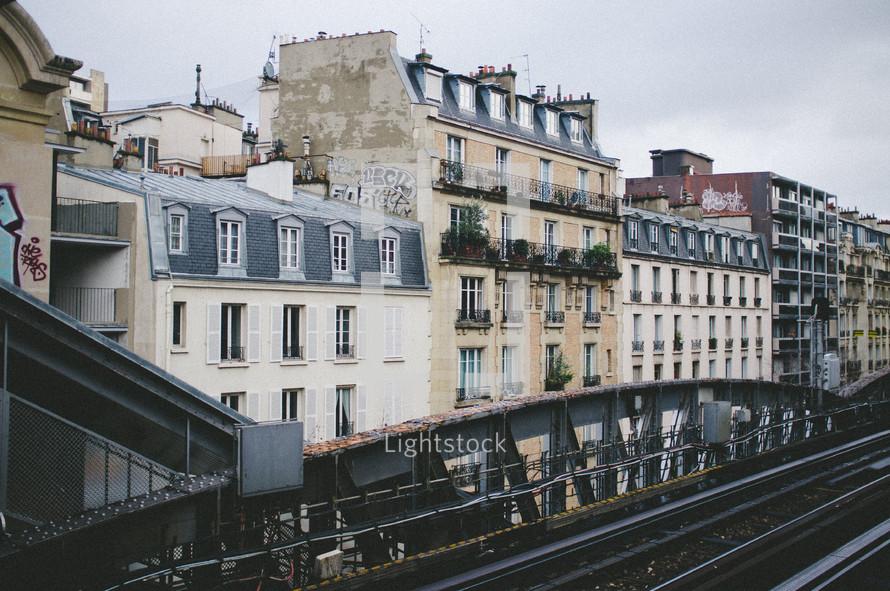 row houses in Paris