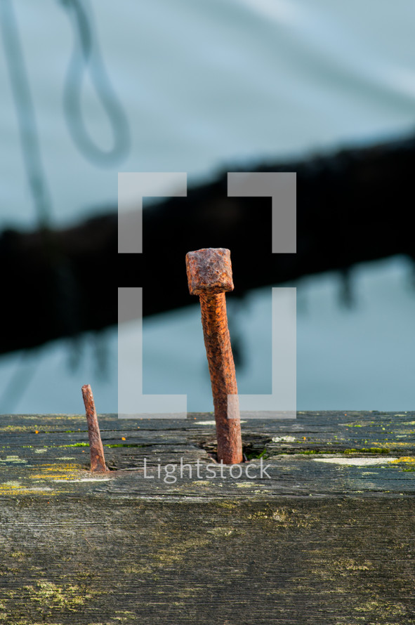 metal stack in the ground