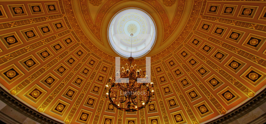 US Capitol National Statuary Hall ceiling