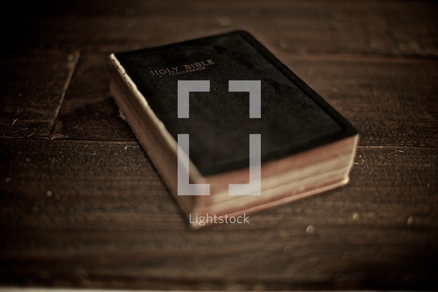 A bible lying on a table