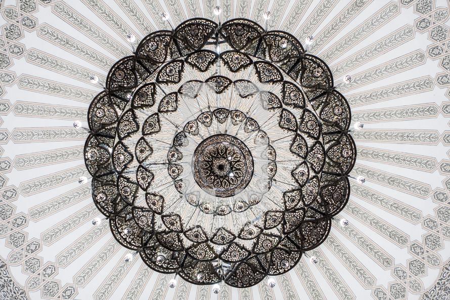 An ornate ceiling design