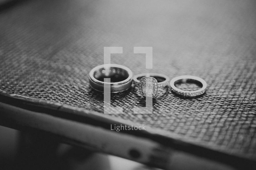Wedding rings and band
