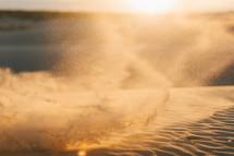 dust devil in sand