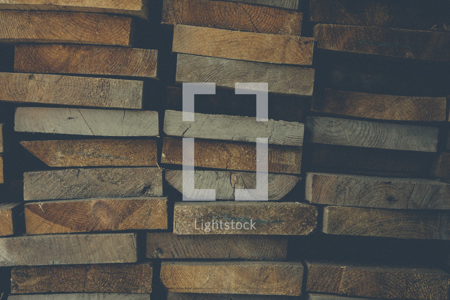 stacked wood boards