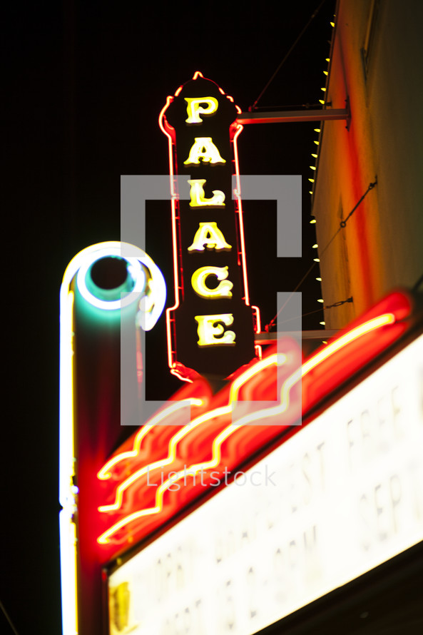Palace neon lights sign