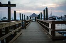 A dock at a boat marina