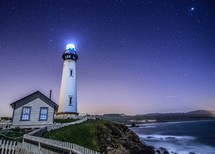 glowing lighthouse