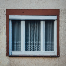 curtains in a window