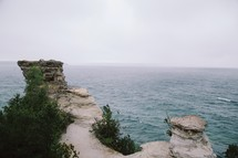 sea cliffs and ocean water