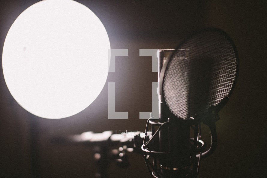 microphone and spotlight