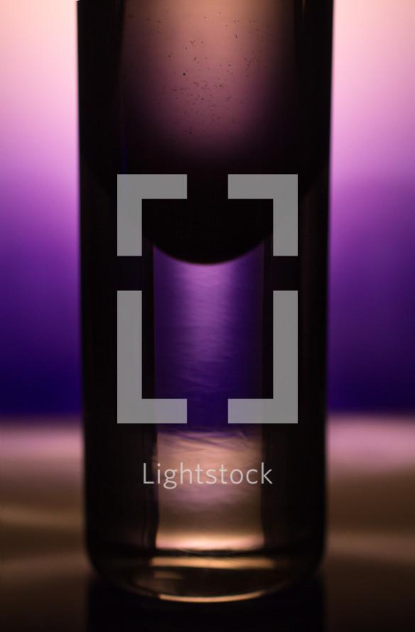 liquid in a jar