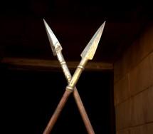 Roman soldier spears