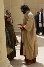 Jesus teaches to crowds