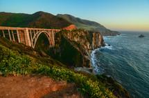 bridge along a shoreline