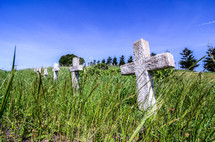 cross grave markers