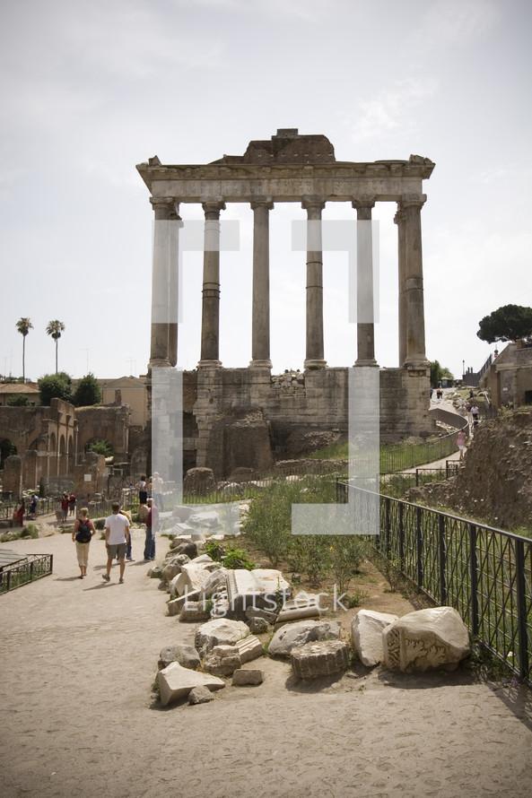columns of a ruin