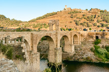 Roman bridge over the Tajo river in Alcantara, Caceres province,Extremadura, Spain