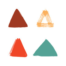 painted triangles