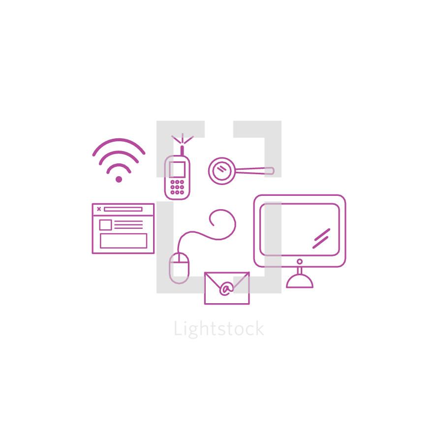 tech icon set