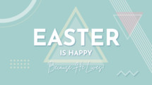 Happy Easter welcome video slide social media background