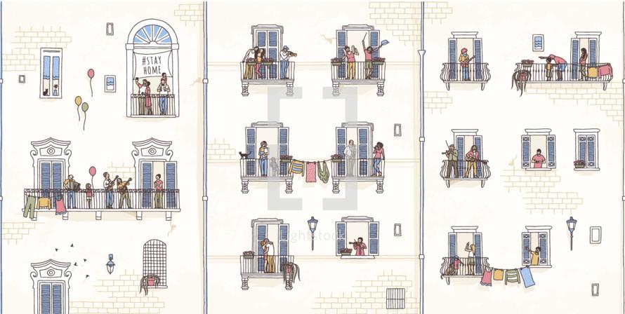 tiny balconies