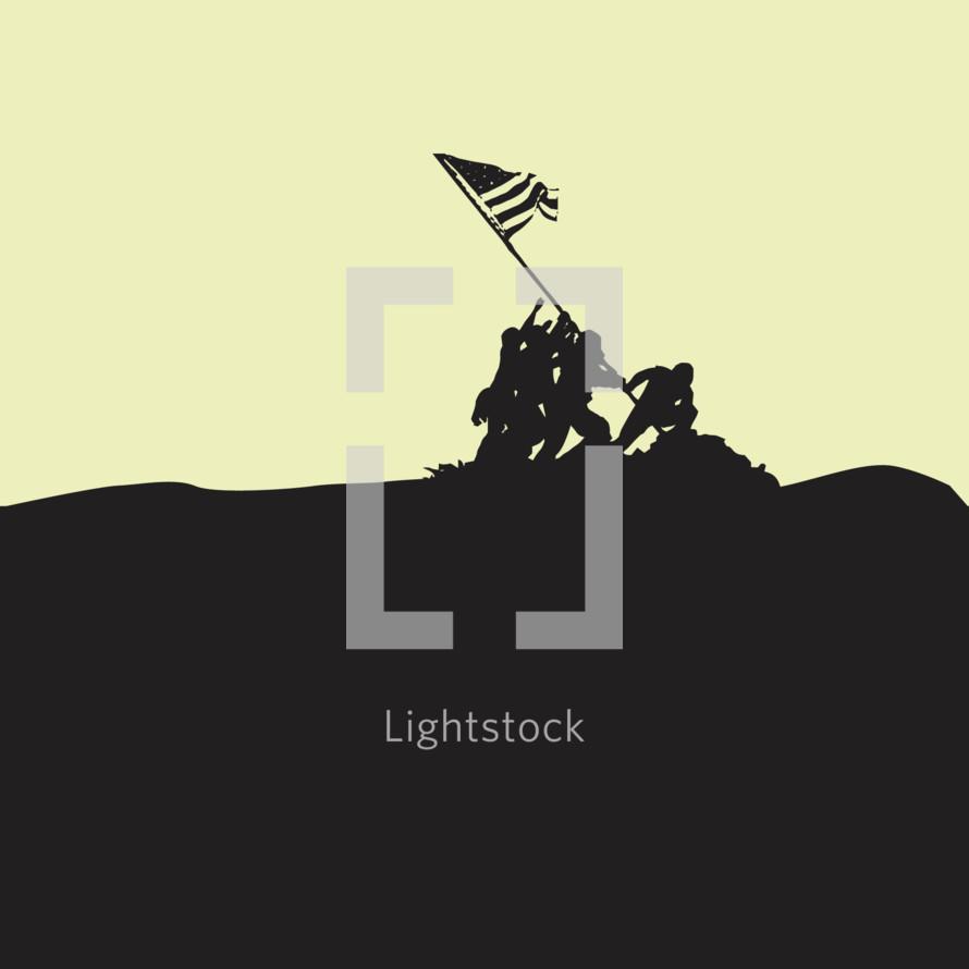 Iwo Jima statue silhouette