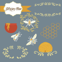 Honey bees icons