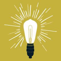 vintage lightbulb illustration.